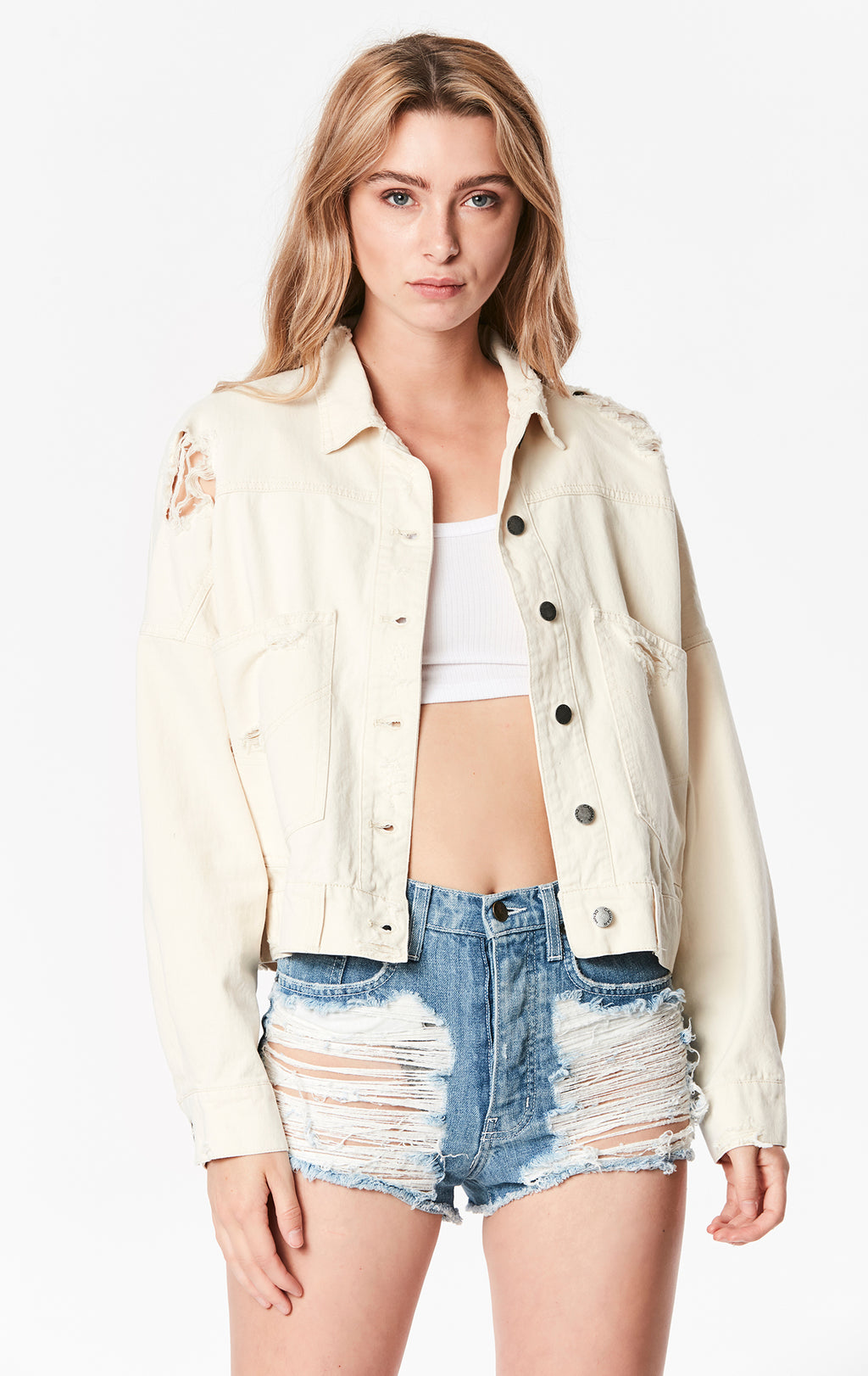 OVERSIZED CROP COTTON JACKET