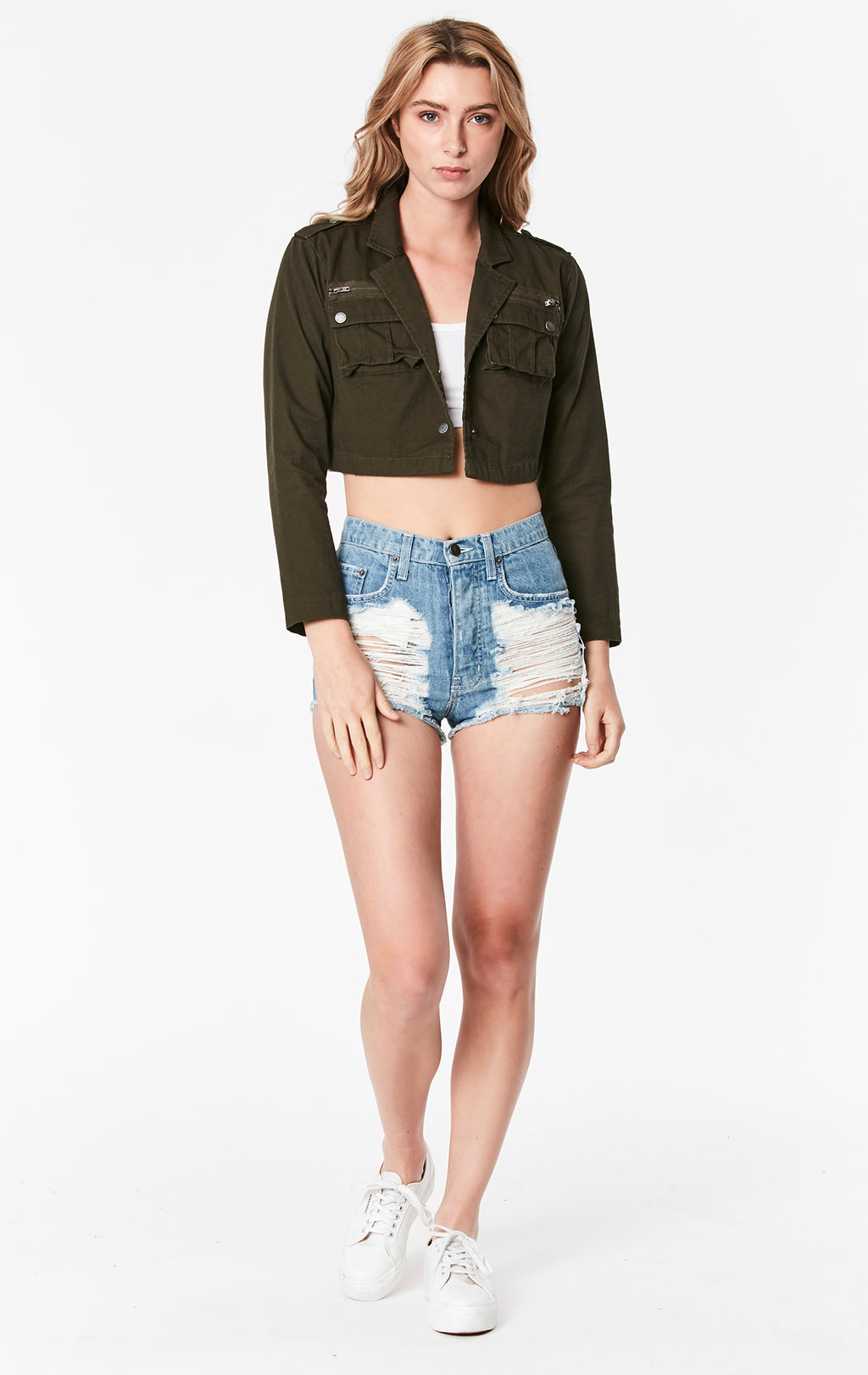 CARGO POCKET CROP JACKET