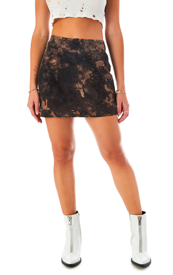 BLEACH SILK MINI SKIRT