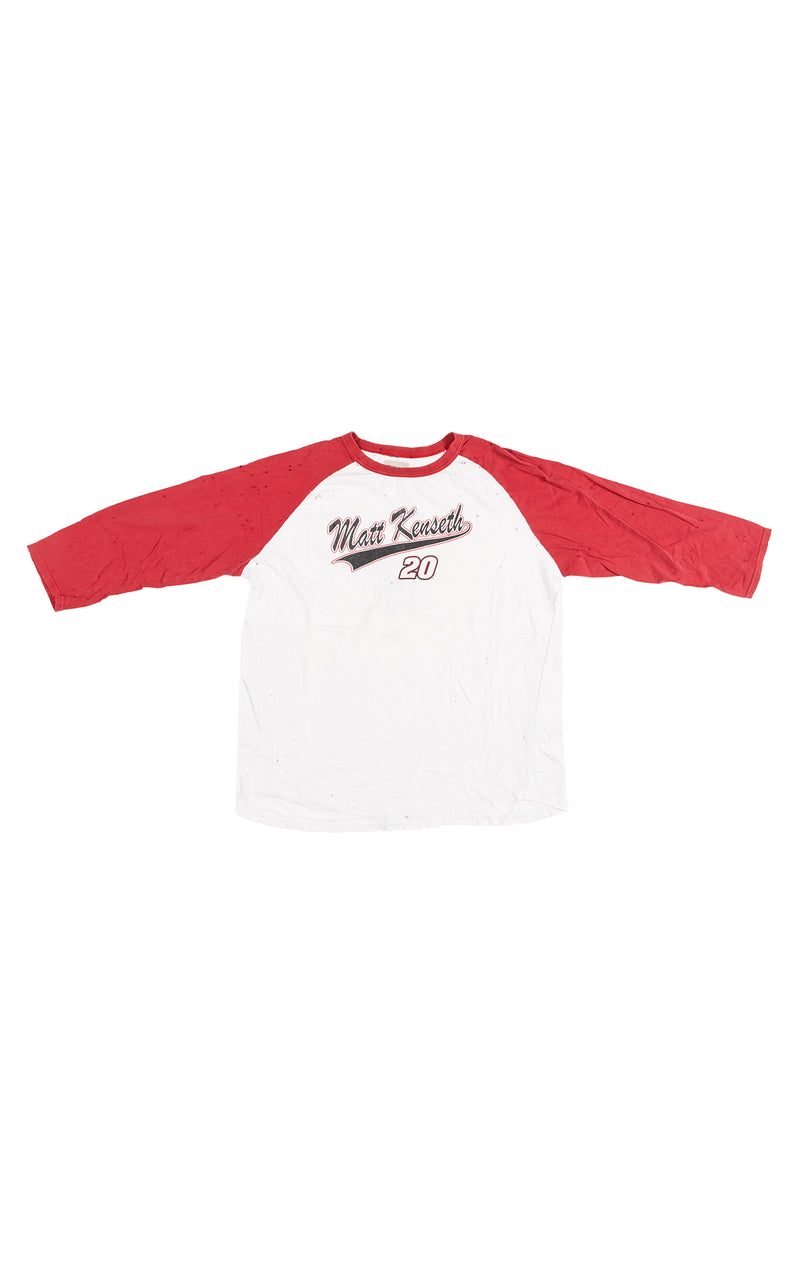 BASEBALL TEE WITH CONTRAST SLEEVE