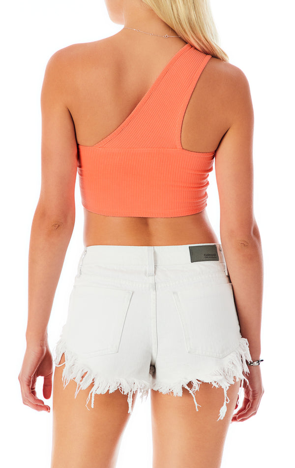 CROP ASYMMETRICAL ONE SHOULDER TANK TOP