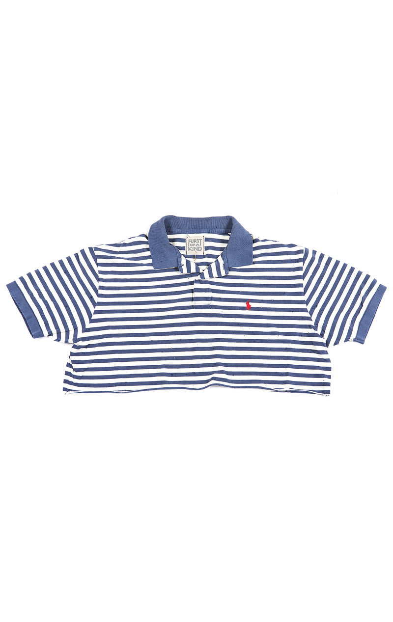CROP POLO SHIRT