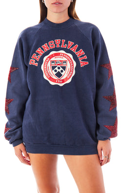 VINTAGE RED STAR PATCH SWEATSHIRT