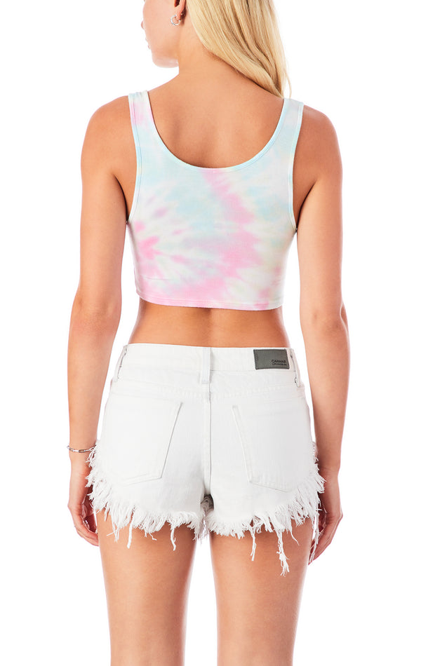 SPIRAL TIE DYE MULTI RING TANK TOP