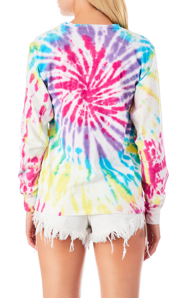 FIREWORK TIE DYE LONG SLEEVE T-SHIRT