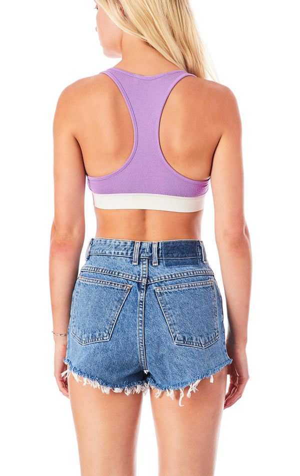 SNAP FRONT RACER BACK CROP TANK