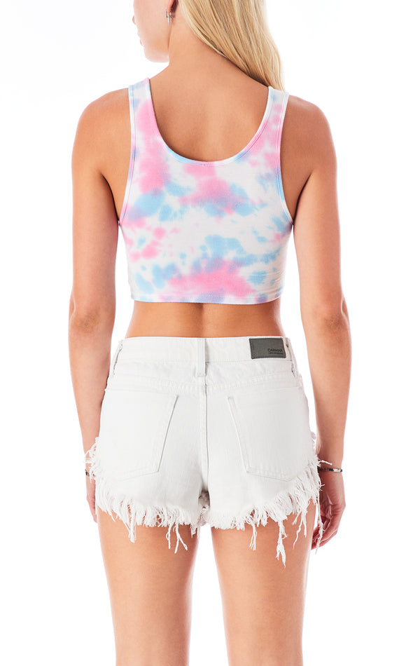 SPLOTCH TIE DYE MULTI RING TANK TOP