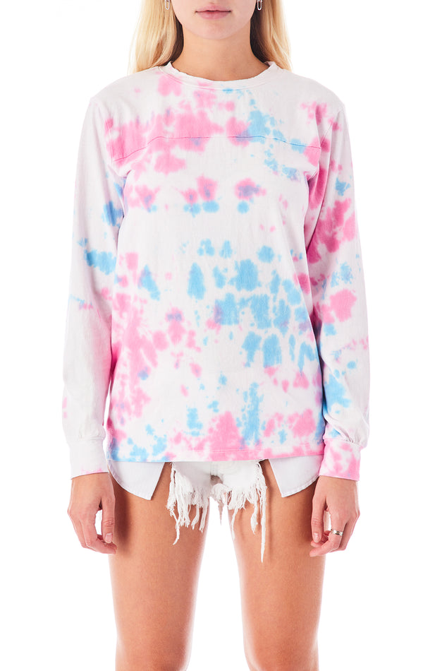 SPLOTCH TIE DYE LONG SLEEVE T-SHIRT