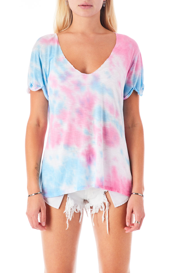 SPLOTCH TIE DYE V-NECK T-SHIRT
