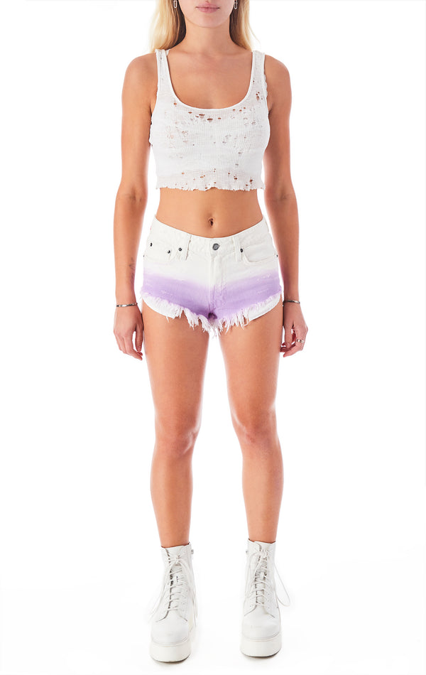 MOGAN DIP DYE DENIM SHORT