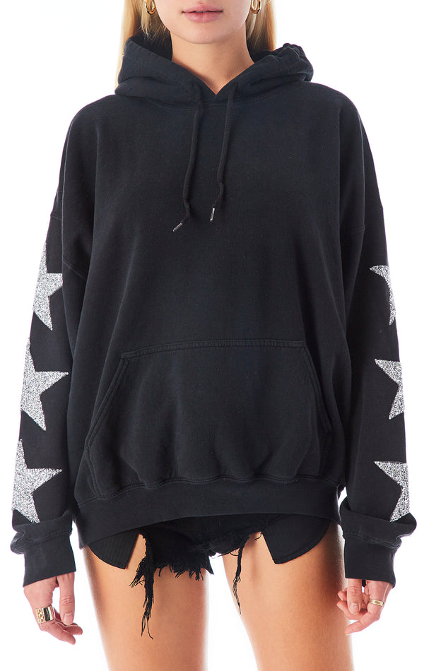 OVERSIZED SILVER STAR PATCH HOODIE