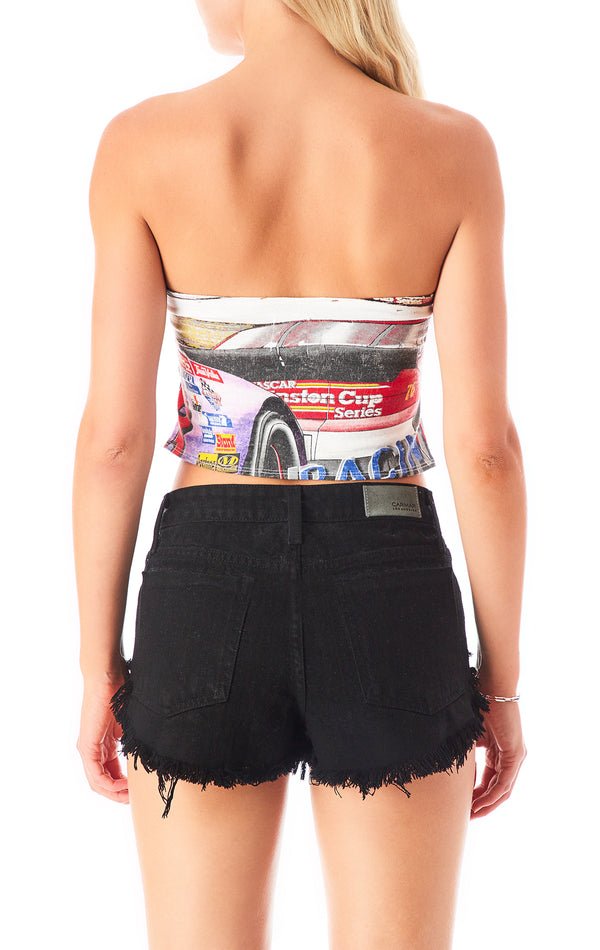 VINTAGE CUT OUT NASCAR TUBE TOP