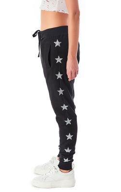 SILVER STAR PATCH SWEATPANTS