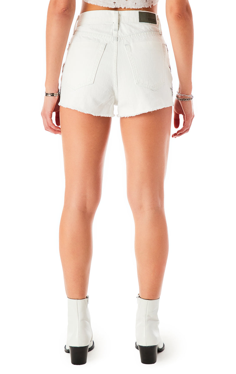 TITANIA STAR PATCH DENIM SHORT