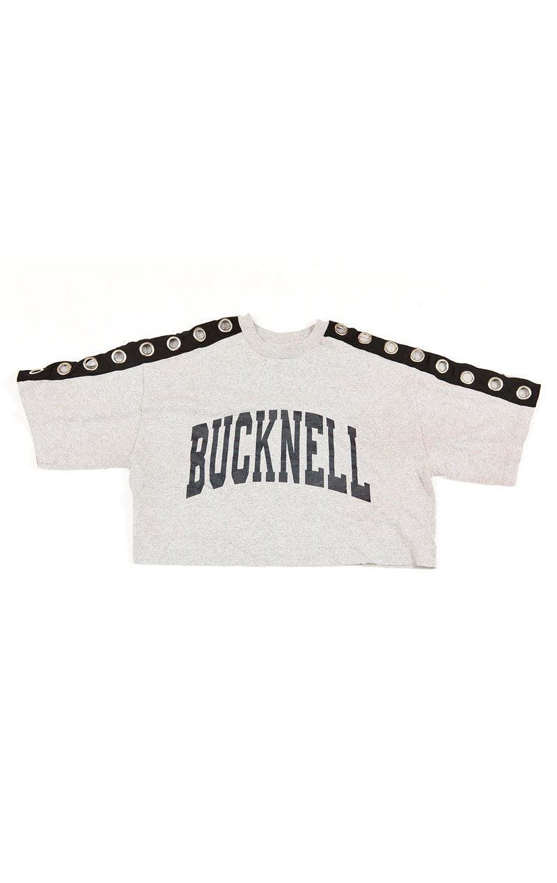CROP TEE WITH GROMMET SLEEVES