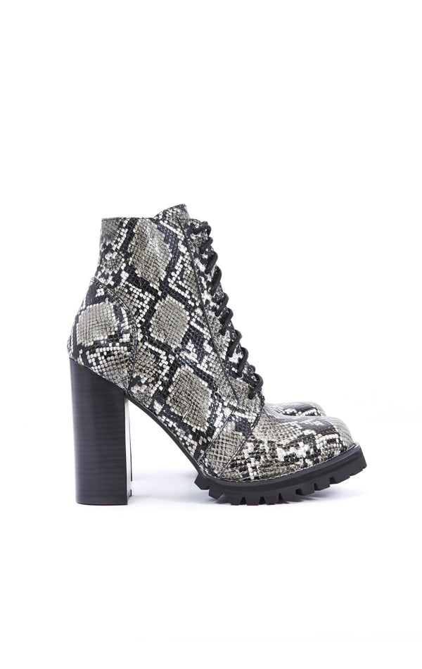 LEGION LUG SOLE LACE UP SNAKE ANKLE BOOT