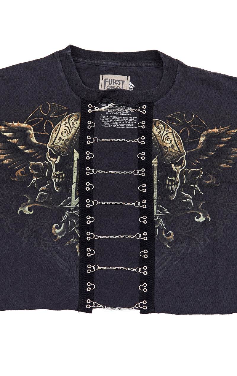 CROP TEE WITH CHAIN LADDER
