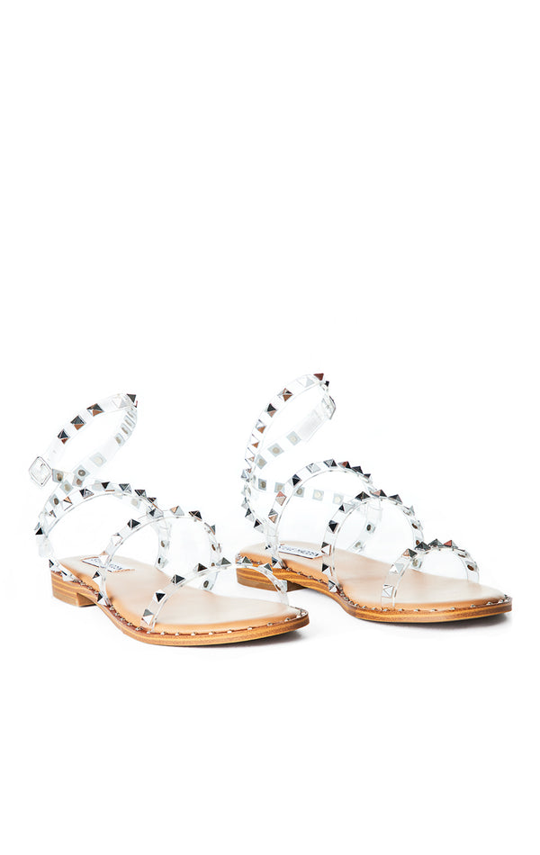 TRAVEL CLEAR STUDDED SANDAL