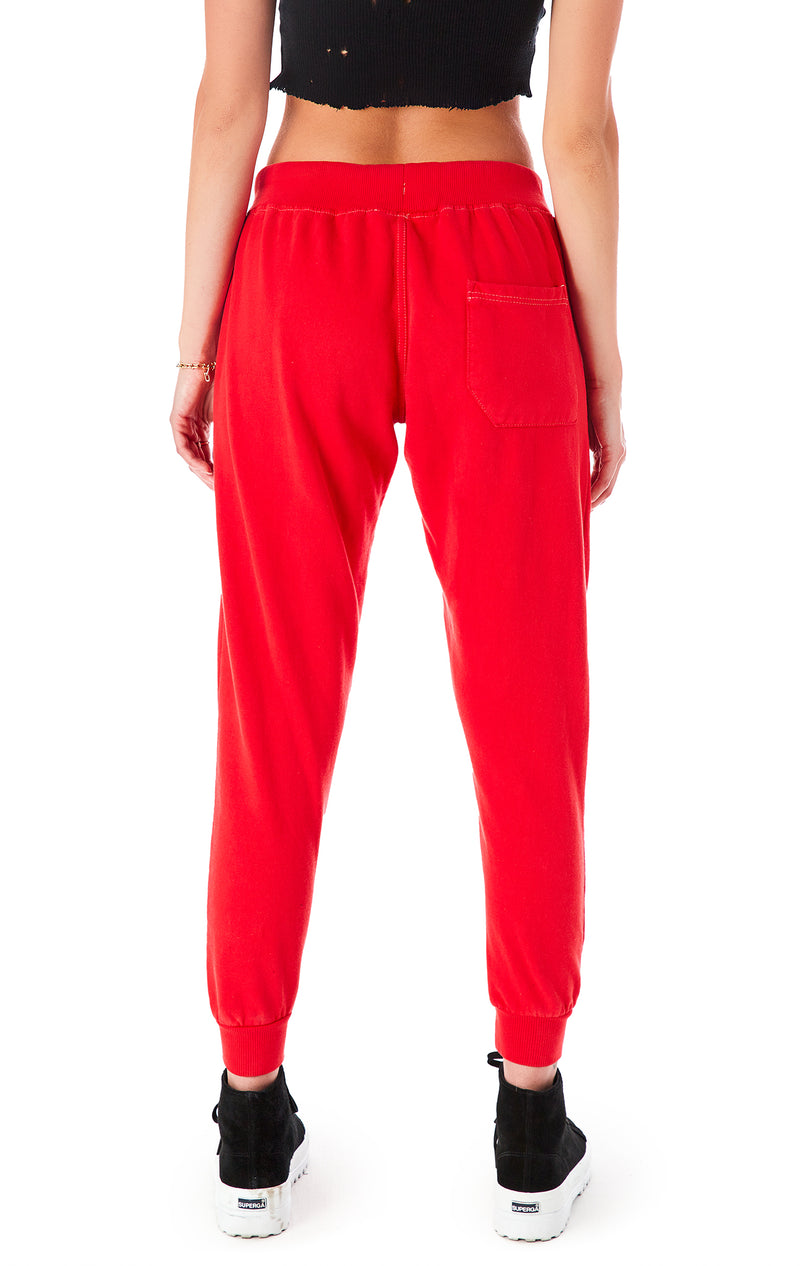 RED SWEATPANTS