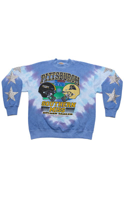VINTAGE TIE DYE STAR PATCH SWEATSHIRT
