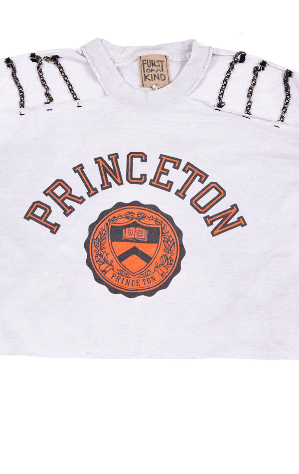 VINTAGE CHAIN CUT OUT COLLEGE T-SHIRT