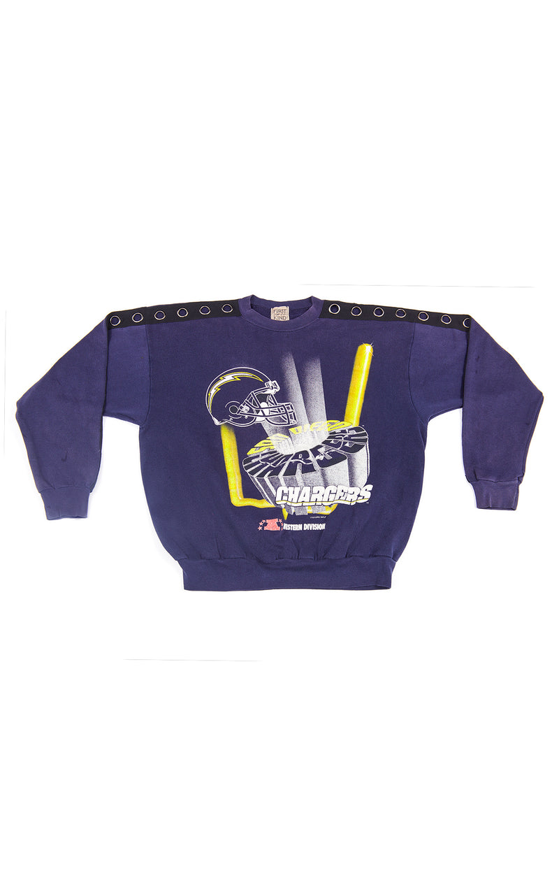 VINTAGE GROMMET SLEEVE SPORTS SWEATSHIRT