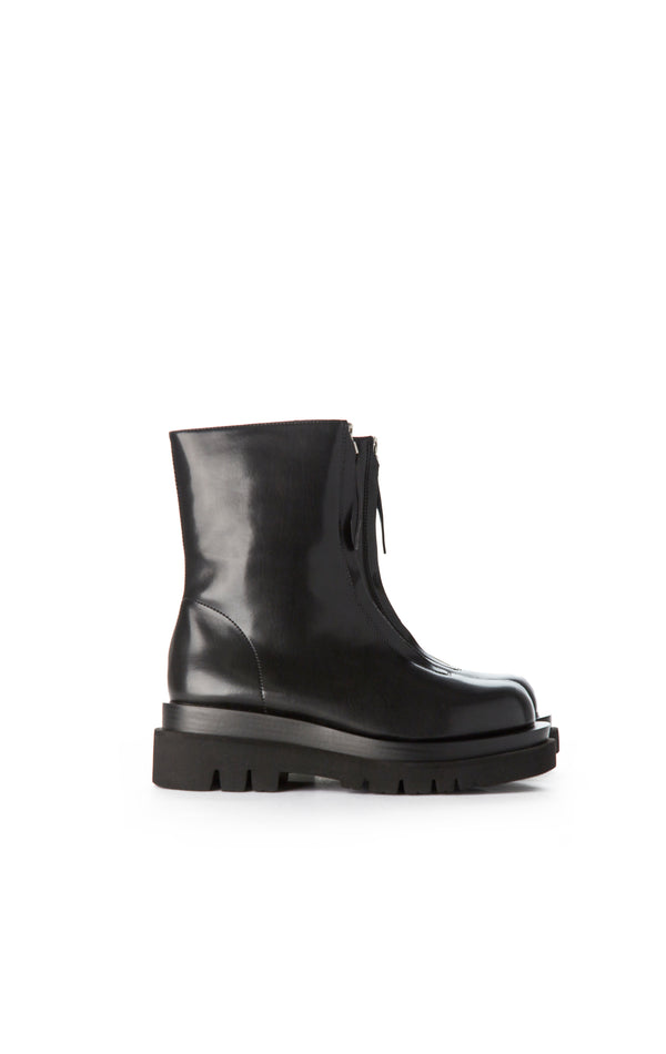 DOZED ZIP FRONT ANKLE BOOT