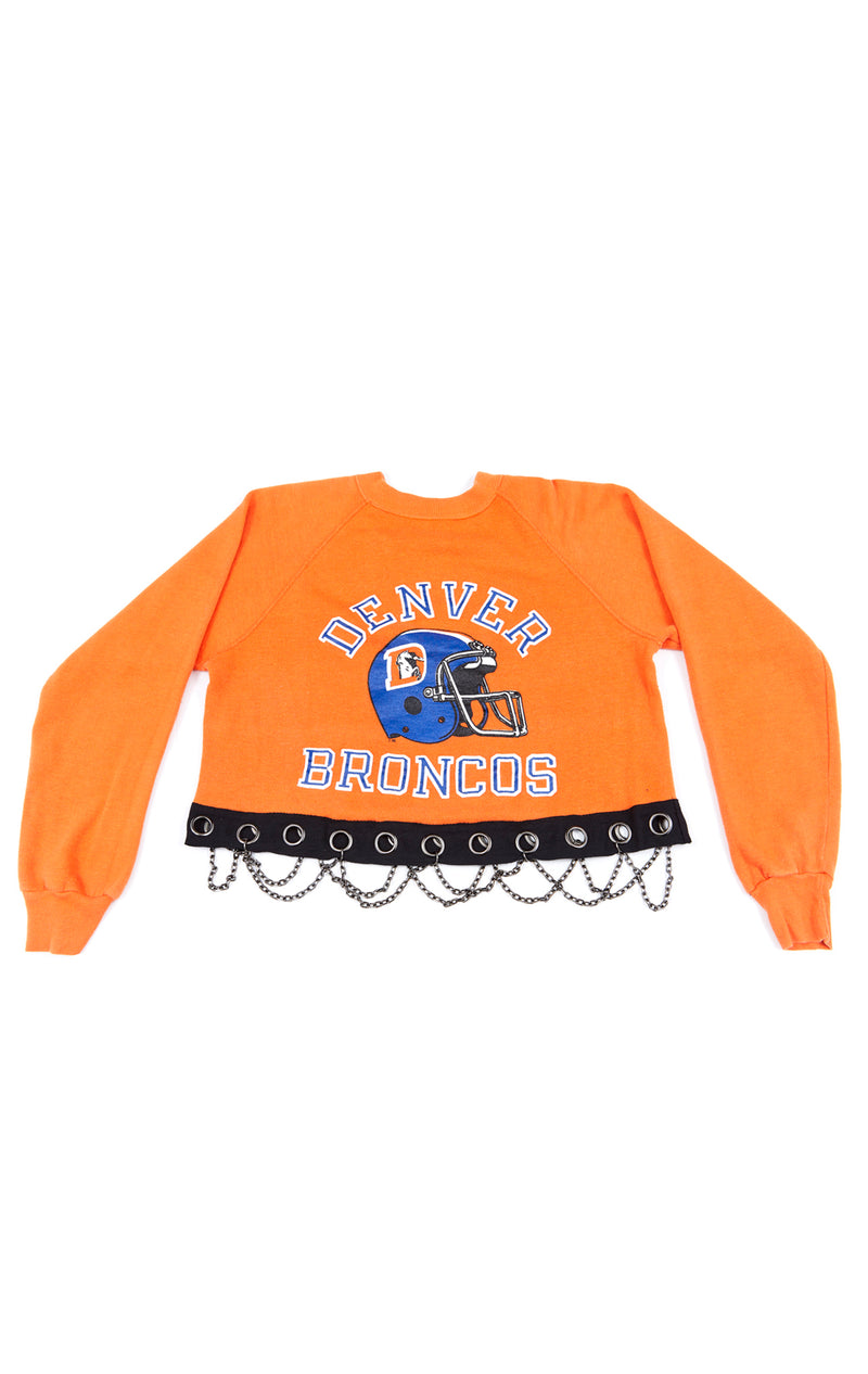 VINTAGE GROMMET CHAIN SPORTS SWEATSHIRT