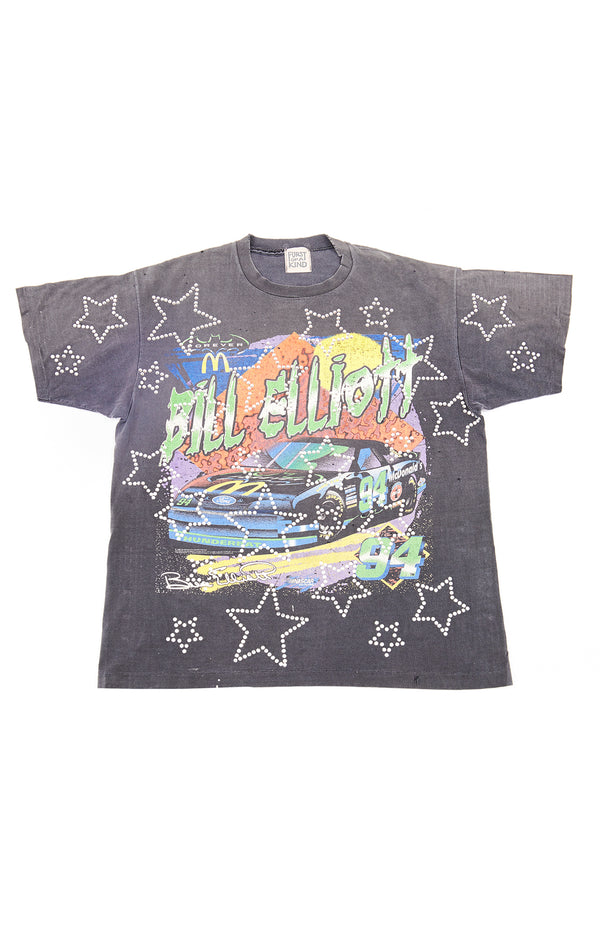 ALLOVER RHINESTONE OUTLINE STAR VINTAGE T-SHIRTS