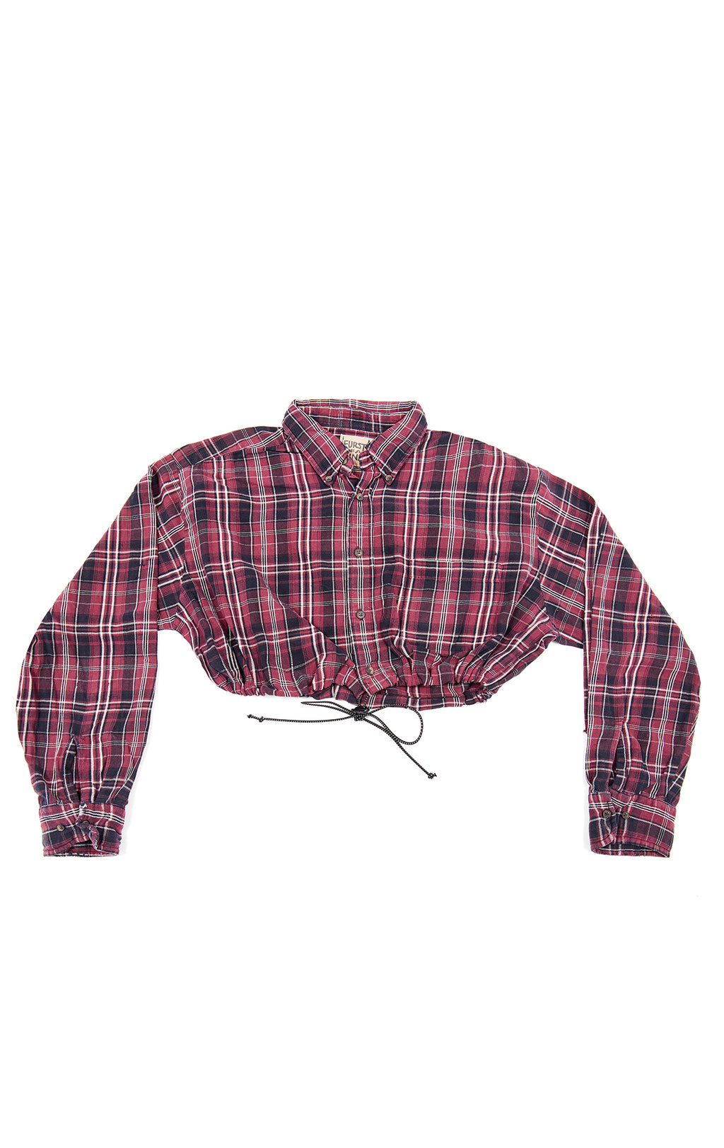 VINTAGE CINCHED CROP FLANNEL
