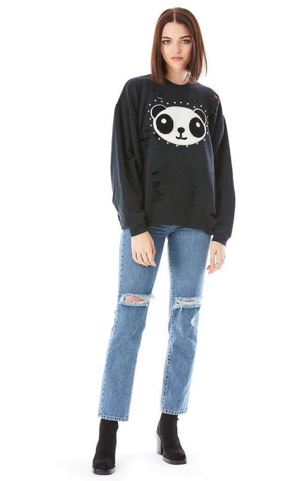 VINTAGE PANDA PATCH SWEATSHIRT