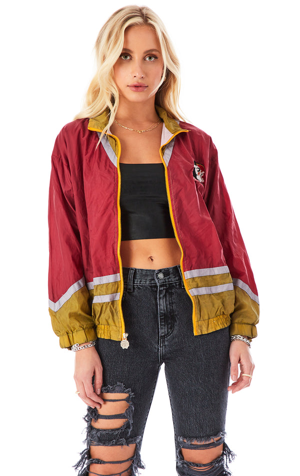 VINTAGE COLLEGE ZIP UP WINDBREAKER