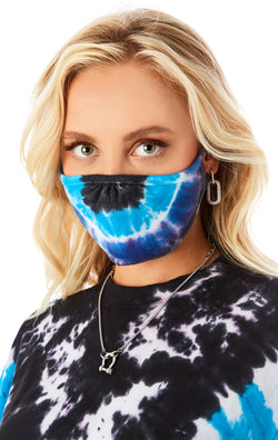 CHEVRON TIE DYE FACE MASK