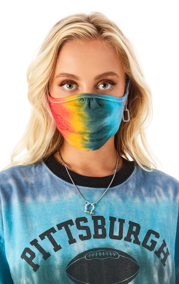HORIZONTAL TIE DYE FACE MASK