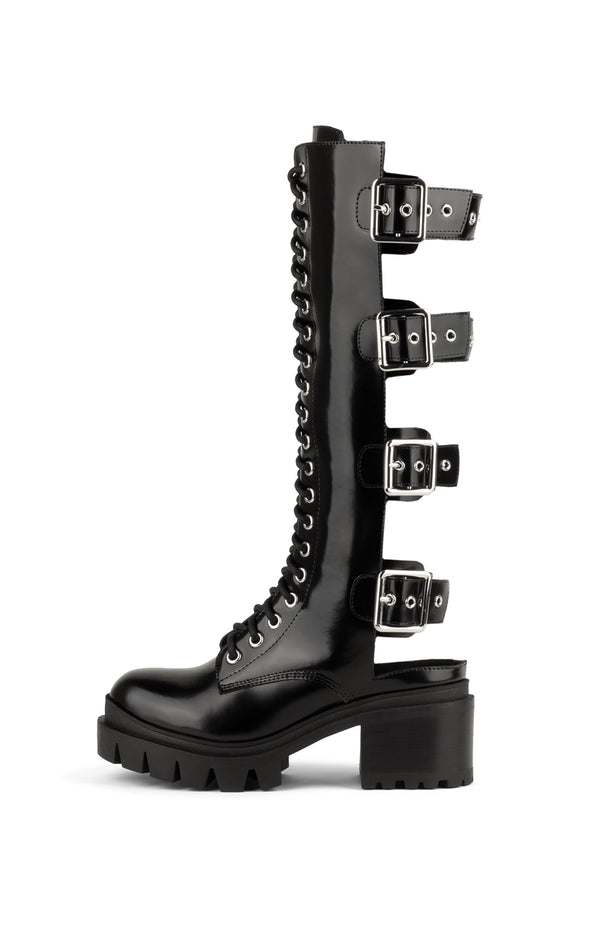 TANK-GRL LUG BOTTOM KNEE HIGH BOOT
