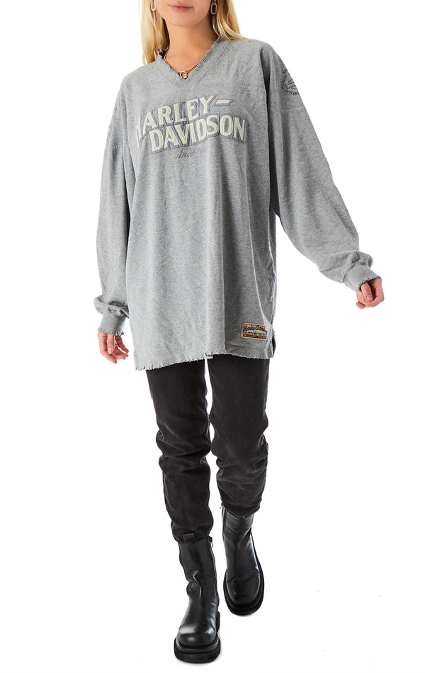 LONG SLEEVE STONEWASHED HARLEY T-SHIRT