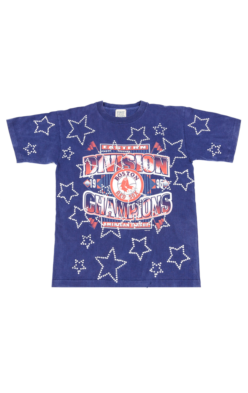 ALL OVER RHINESTONE STAR OUTLINE VINTAGE TEE