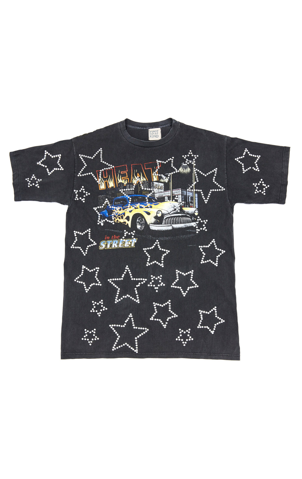 ALL OVER RHINESTONE OUTLINE STAR VINTAGE TEE