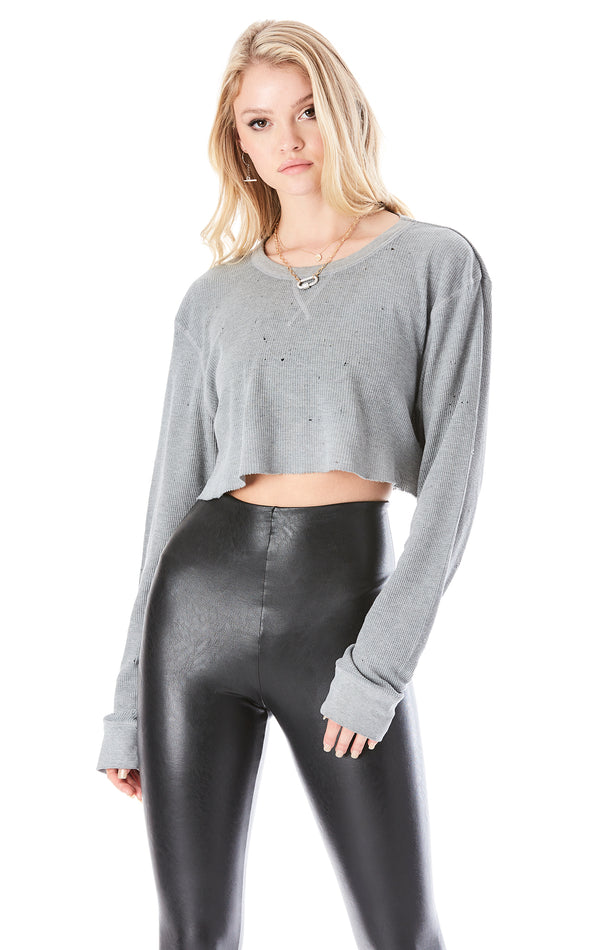 VINTAGE STONEWASHED CROP THERMAL