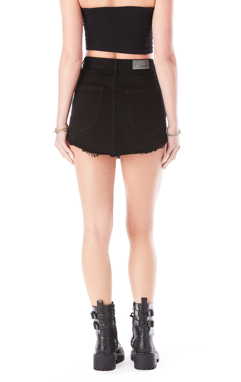 BEATRICE STAR STUD ZIP FRONT SKIRT