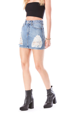 COLIN LYLA DENIM SKIRT