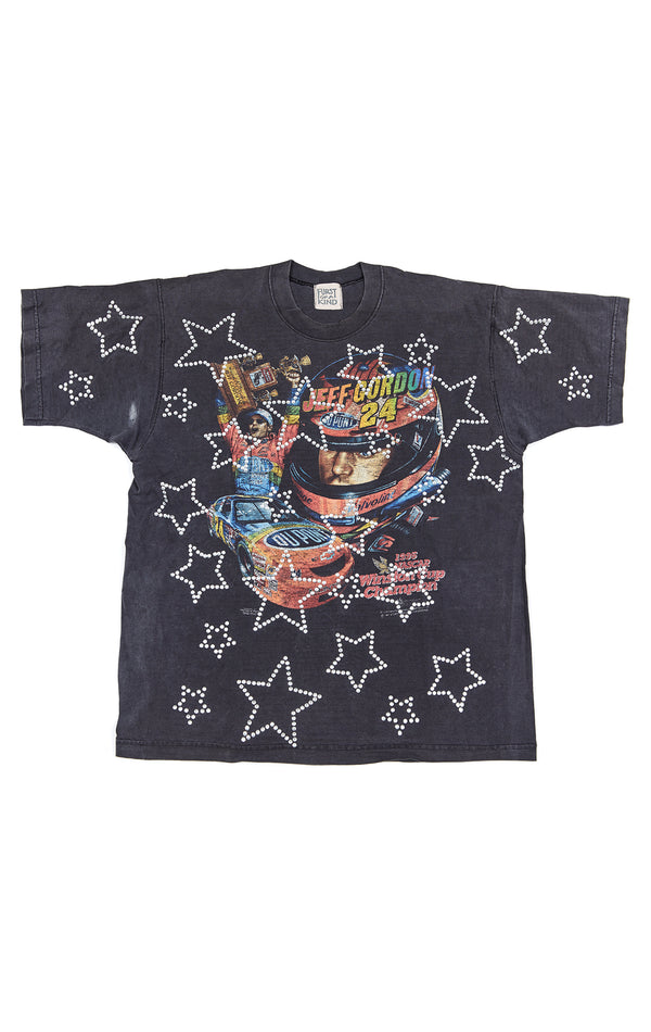 ALLOVER RHINESTONE OUTLINE STAR VINTAGE T-SHIRT