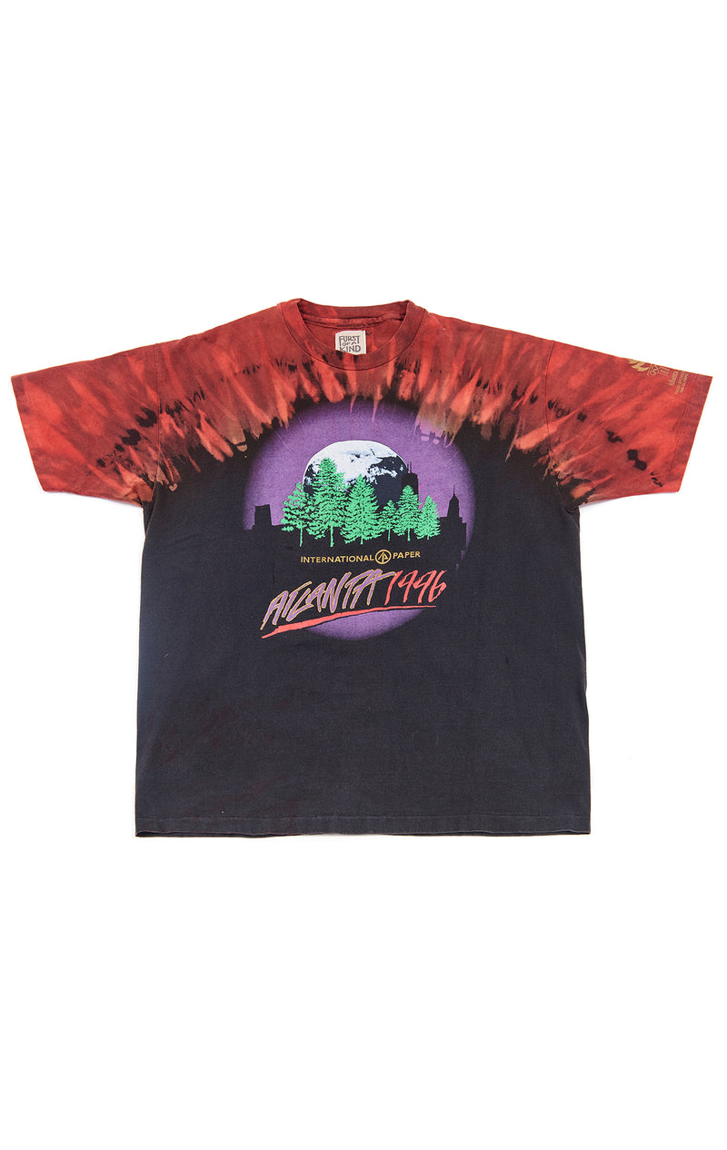 VINTAGE SHOULDER TIE DYE GRAPHIC T-SHIRT