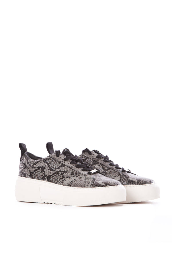 COURTO PLATFORM LEATHER SNEAKERS