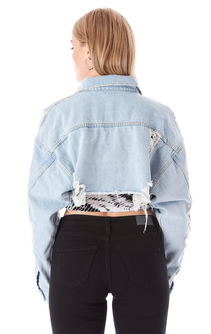 NICHOLAS CASSIDY CROP DENIM JACKET