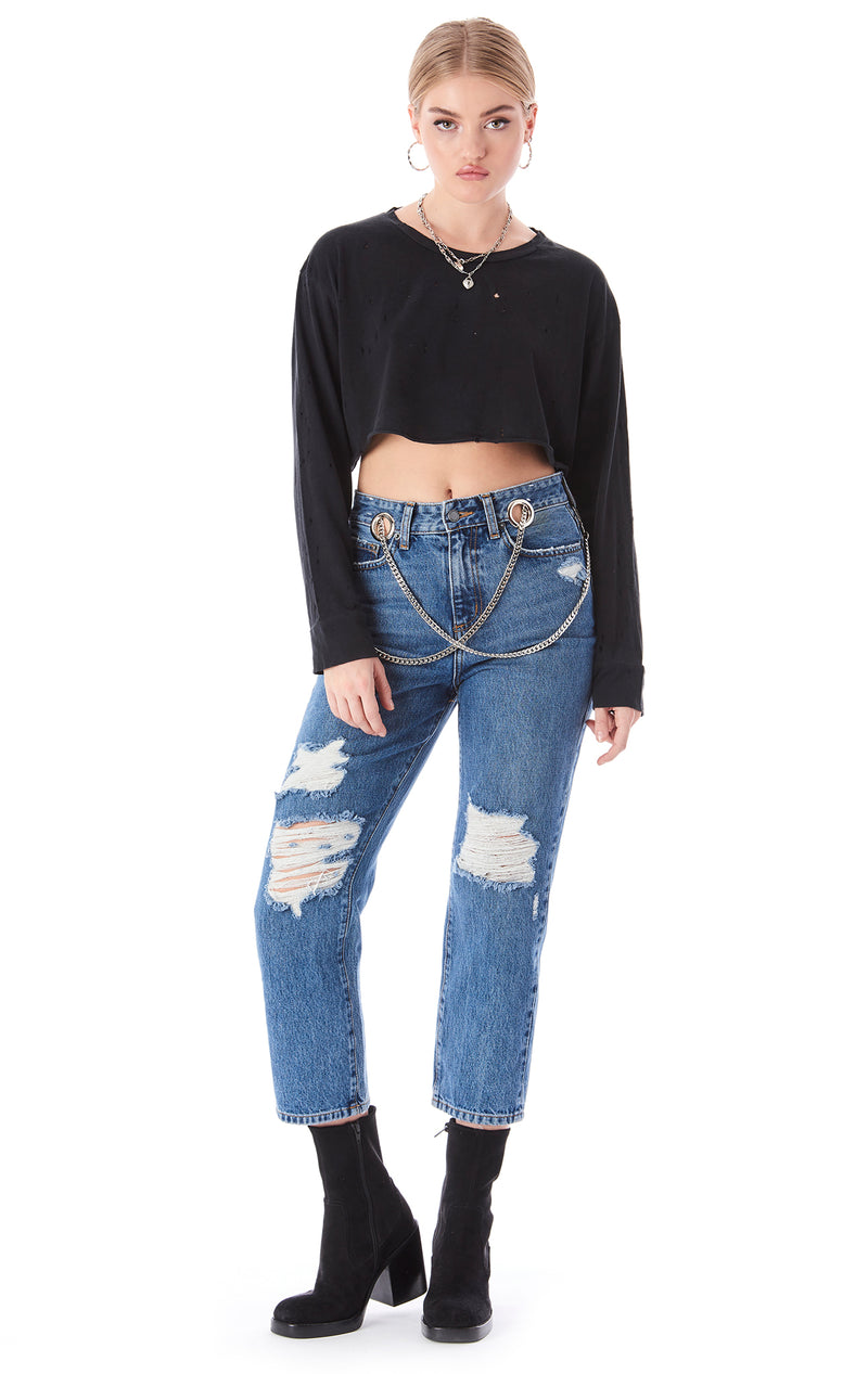 HERMIA GIANNA CROSSOVER CHAIN JEAN
