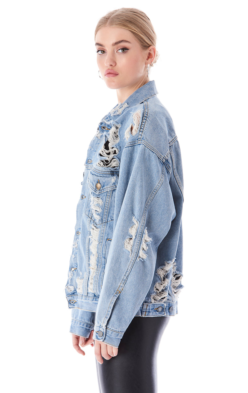AUDREY MILA OVERSIZED DENIM JACKET