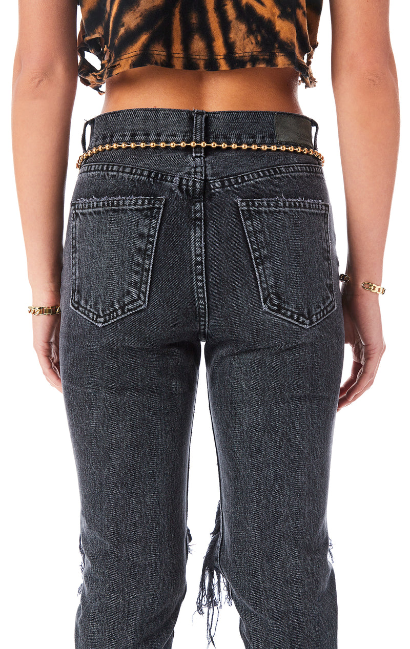 OVERSIZED SAFETY PIN CHAIN BELT