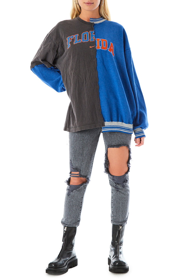 VINTAGE SPLICED TEE SWEATSHIRT