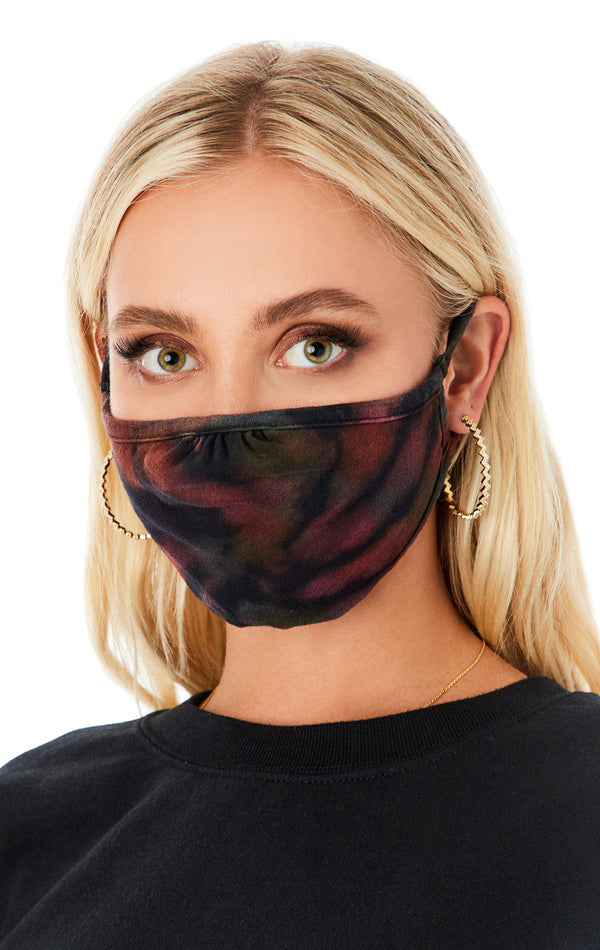 KALEIDOSCOPE TIE DYE FACE MASK